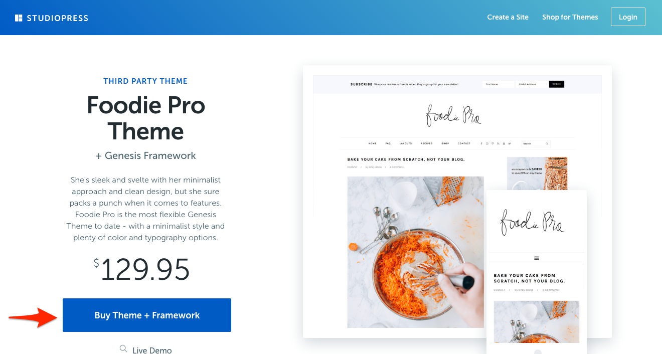 Buy Foodie Pro WordPress Theme