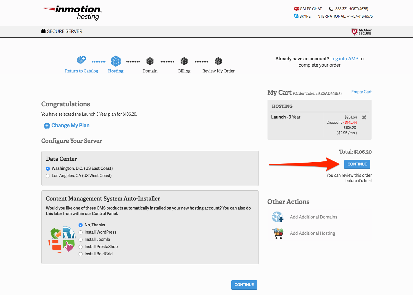 Configure Your InMotion Hosting Plan